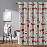 Make A Wish Fire Truck Shower Curtain