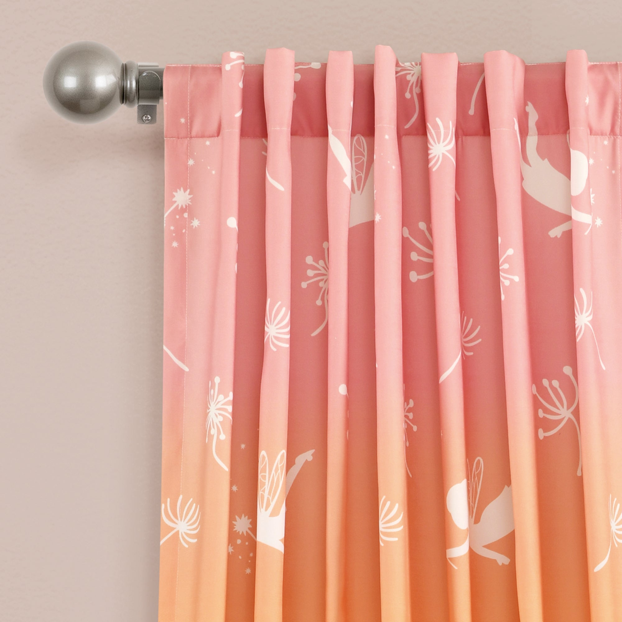 Make-A-Wish Dandelion Fairy Ombre Window Curtain Panel Set
