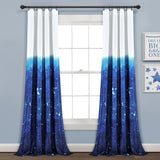 Make-A-Wish Space Star Ombre Window Curtain Panel Set