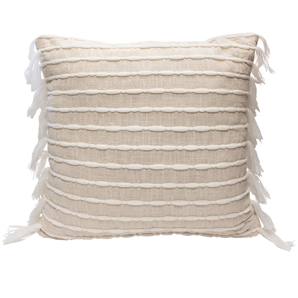 Linear Tassel Decorative Pillow