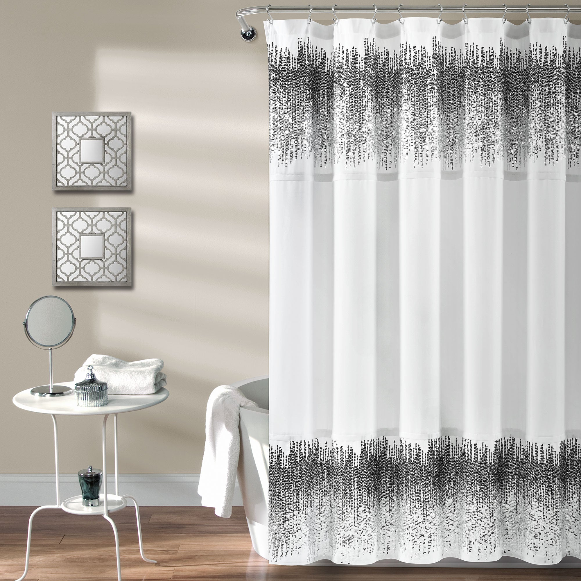 Shimmer Sequins Shower Curtain