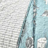 French Country Toile 3 Piece Quilt Set