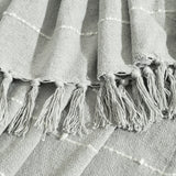 Boho Tufted Cotton Woven Tassel Fringe Throw