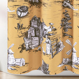 French Country Toile Shower Curtain