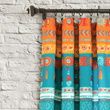 Boho Watercolor Border Window Curtain Panel Set