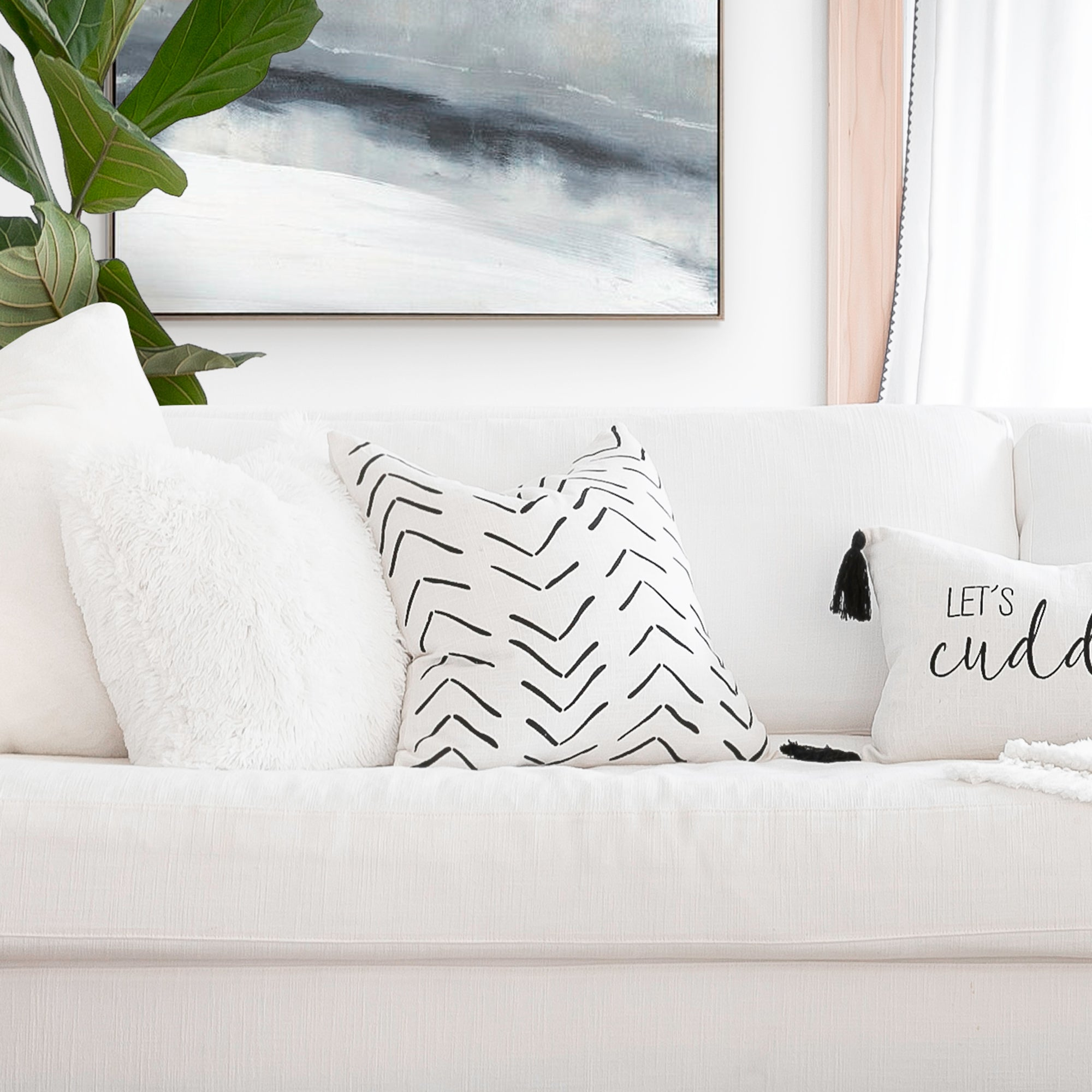 Hygge Row Decorative Pillow Cover
