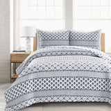 Monique Stripe 3 Piece Quilt Set