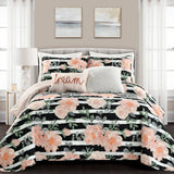 Amara Watercolor Rose Quilt Set