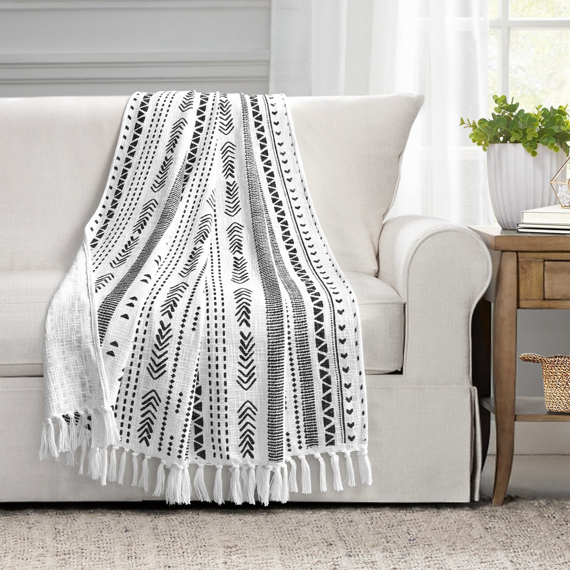 COMING SOON: Hygge Stripe Cotton Slub Tassel Fringe Throw