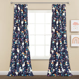 Unicorn Heart Window Curtain Panel Set
