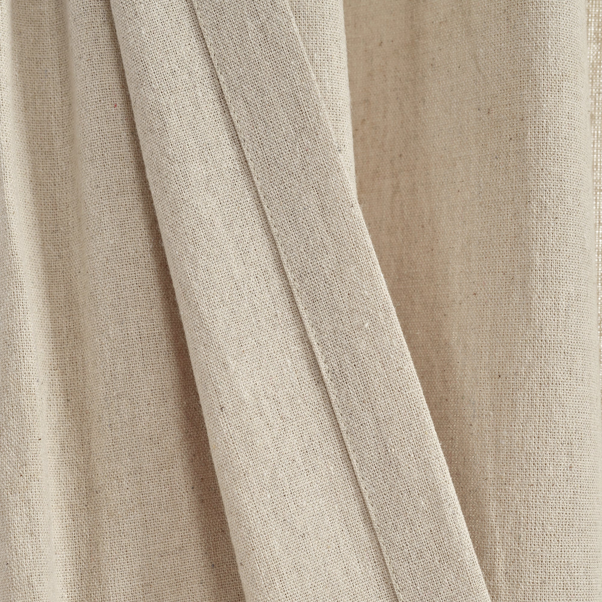 Linen Button Pinched Pleat Window Curtain Panel