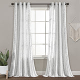 Hygge Stripe Window Curtain Panel Set