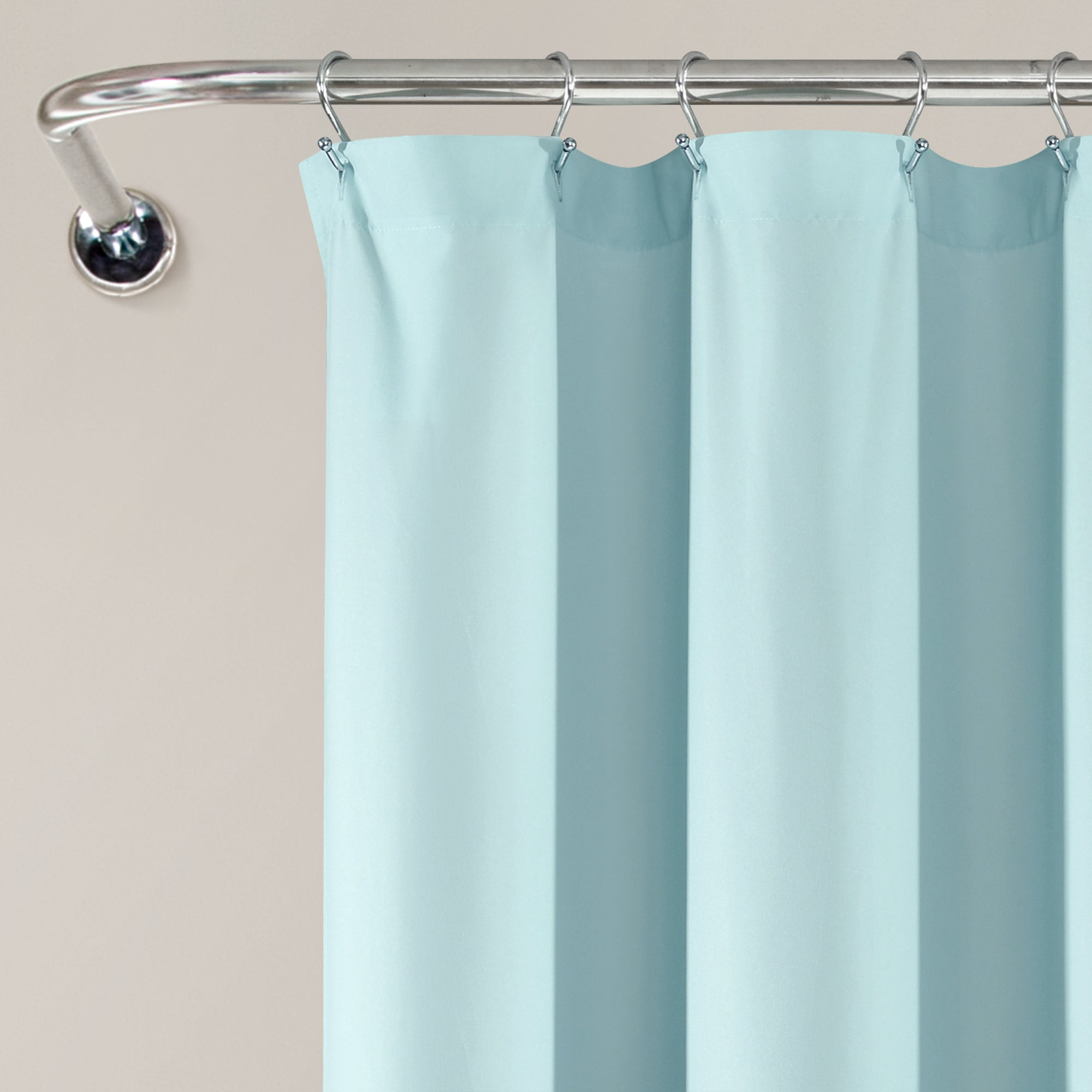 Tulle Skirt Colorblock Shower Curtain