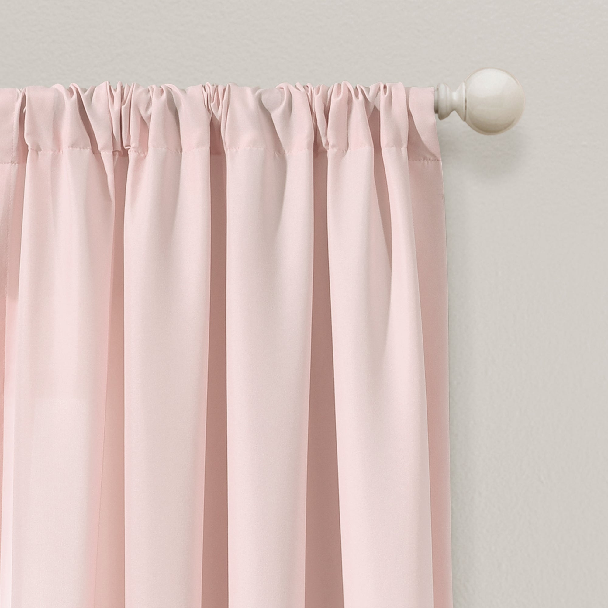 Tulle Skirt Colorblock Window Curtain Panel Set