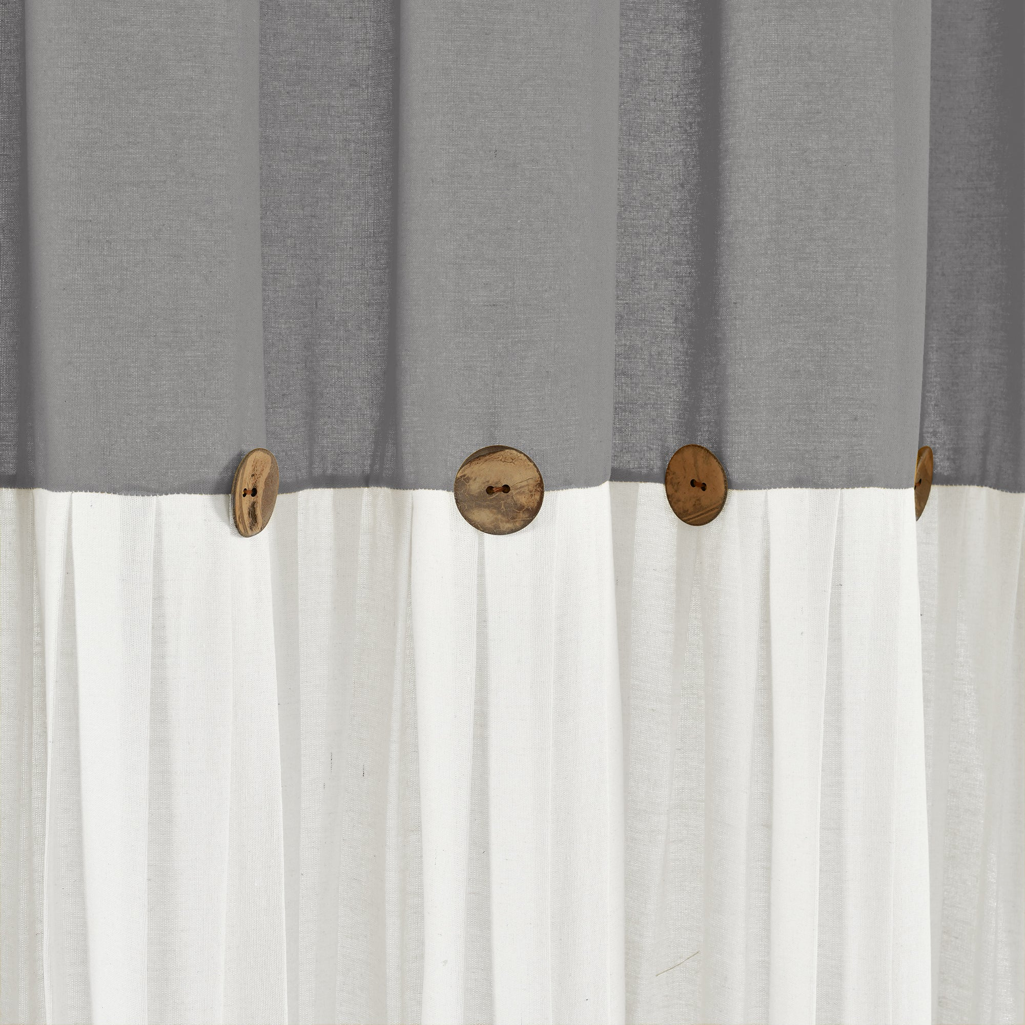 Linen Button Shower Curtain