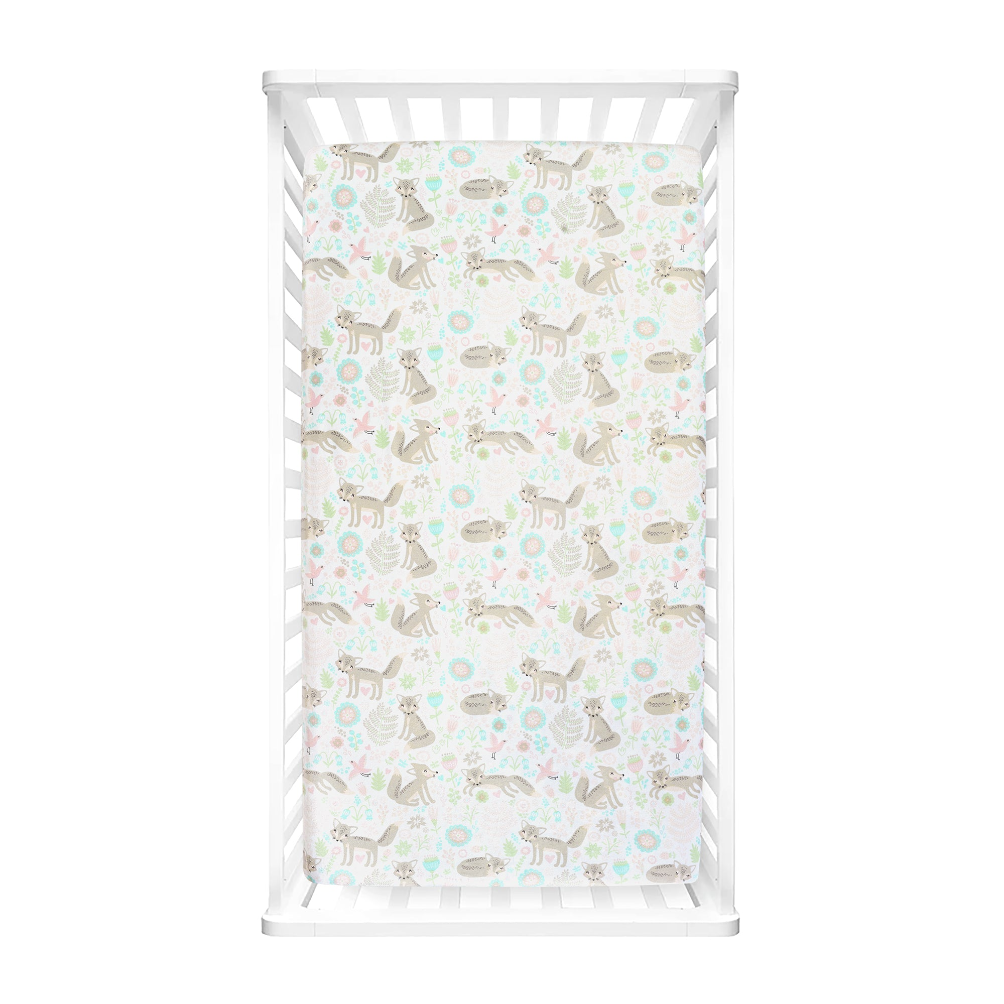 Pixie Fox Micro Mink Fitted Crib Sheet 2 Pack Set