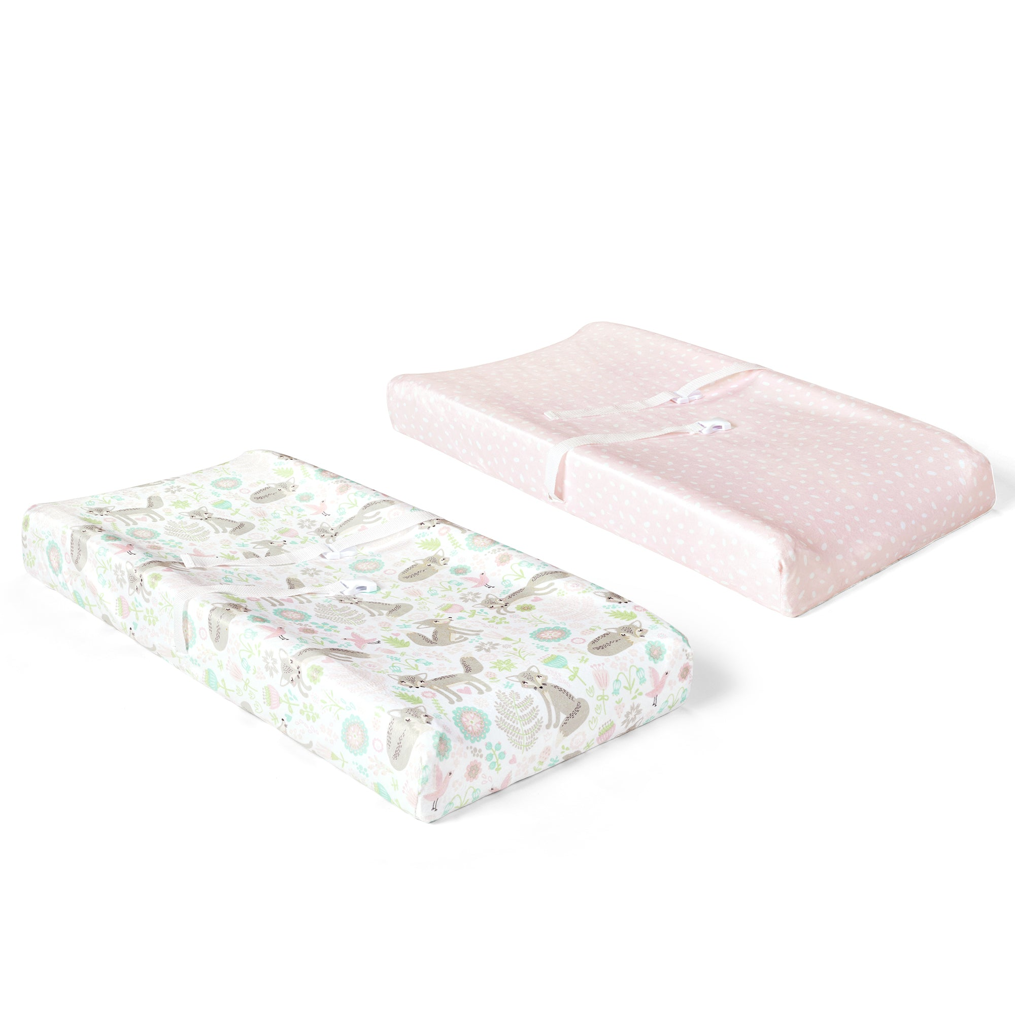 Pixie Fox Geo Micro Mink Changing Pad Cover 2 Pack Set
