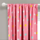 Unicorn Heart Rainbow Star Blackout Window Curtain Panel