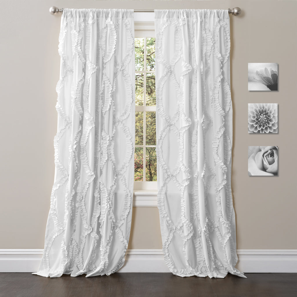 White window curtains - Avon Window Curtain
