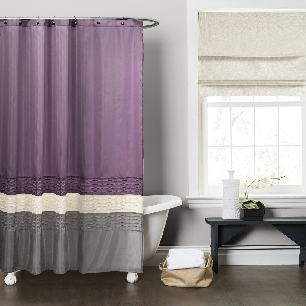 Great Mia Shower Curtain Intended Purple And Grey Shower Curtain