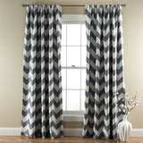 Chevron Blackout Window Curtain Set