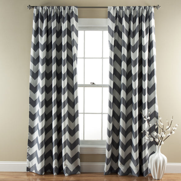 Chevron Window Blackout Curtain (Pair)