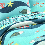 Sea Life 2 Piece Quilt Set Twin Size