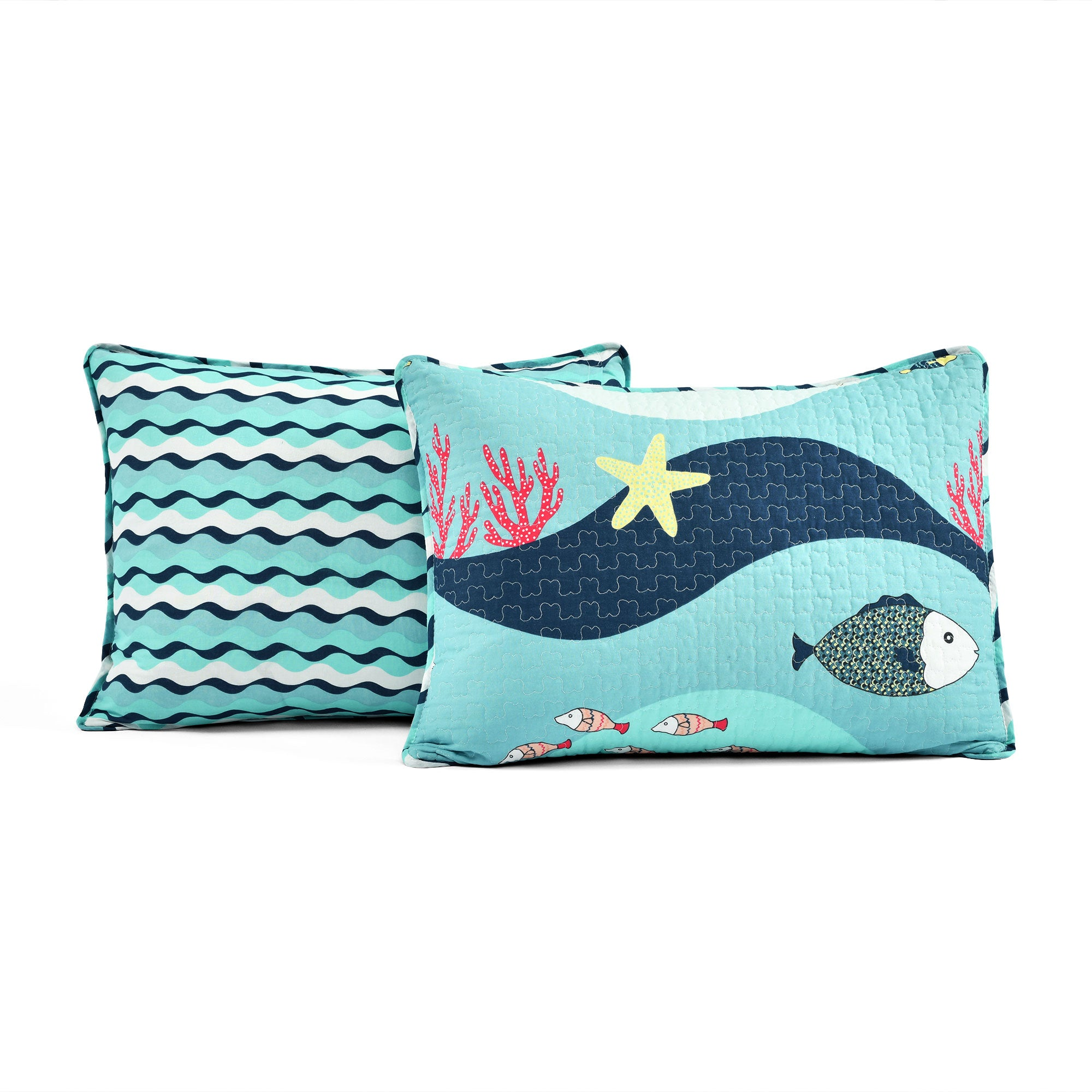 Sea Life 3 Piece Quilt Set Full/Queen Size
