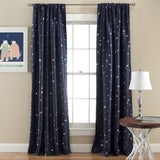 Star Blackout Window Curtain Set