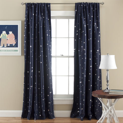 Star Room Darkening Window Curtain Set