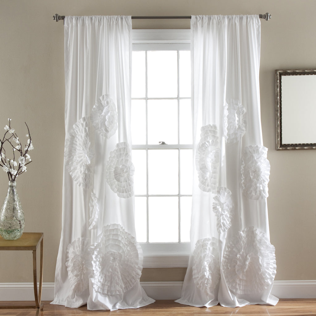 White window curtains - Serena Window Curtain