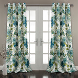 Floral Paisley Room Darkening Window Curtain Set