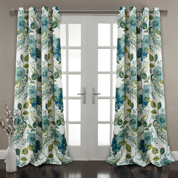Floral Paisley Window Curtain Set