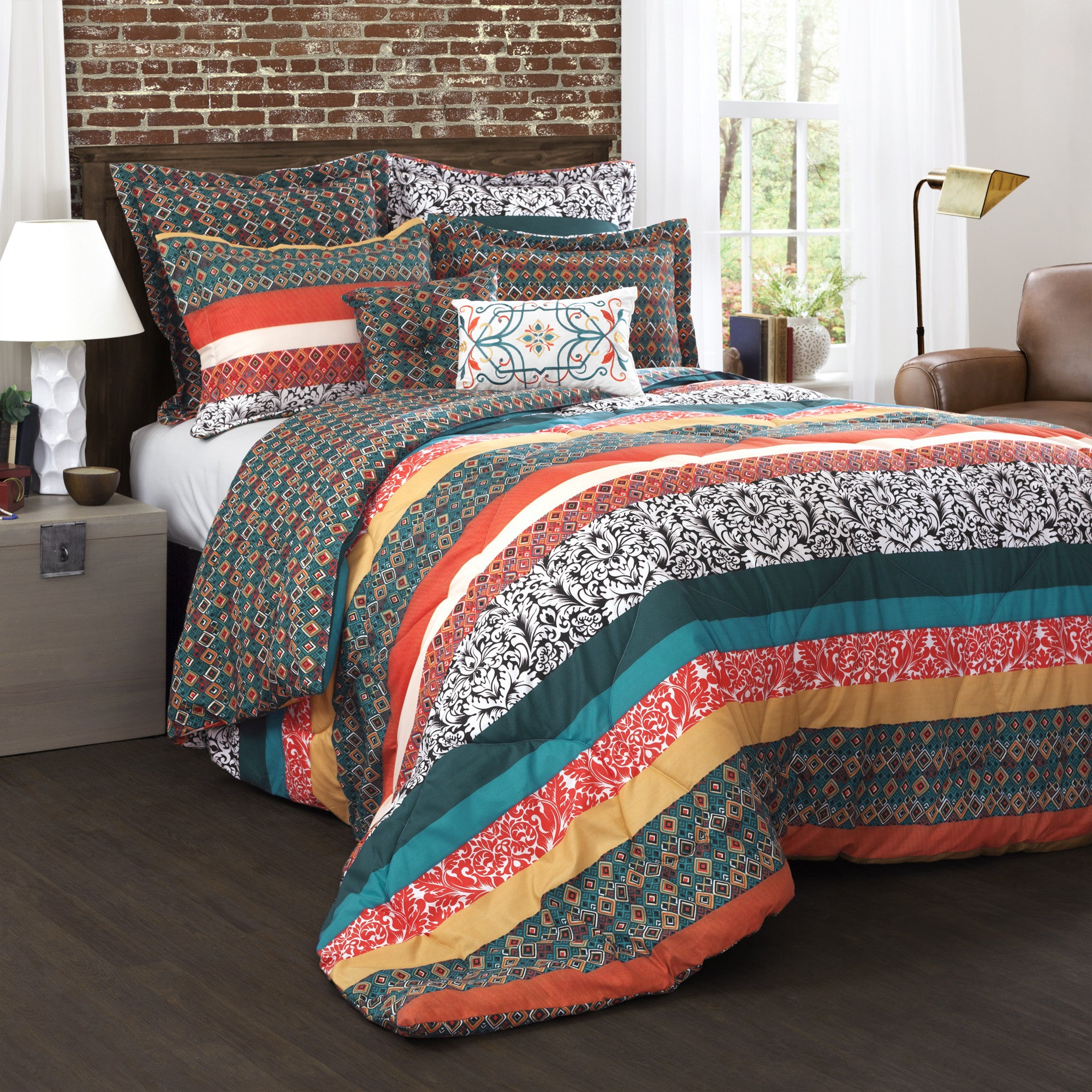 Boho Stripe 7 Piece Comforter Set Lush Decor Www Lushdecor Com Lushdecor