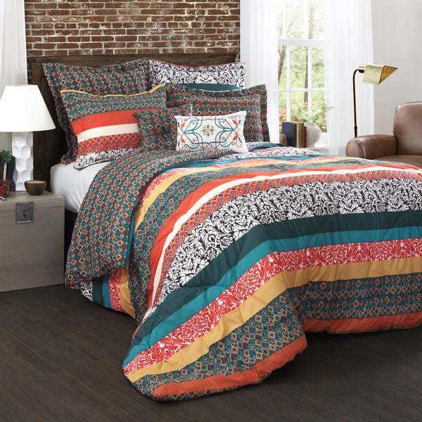 Boho Stripe 7 Piece Comforter Set Lush Decor Www