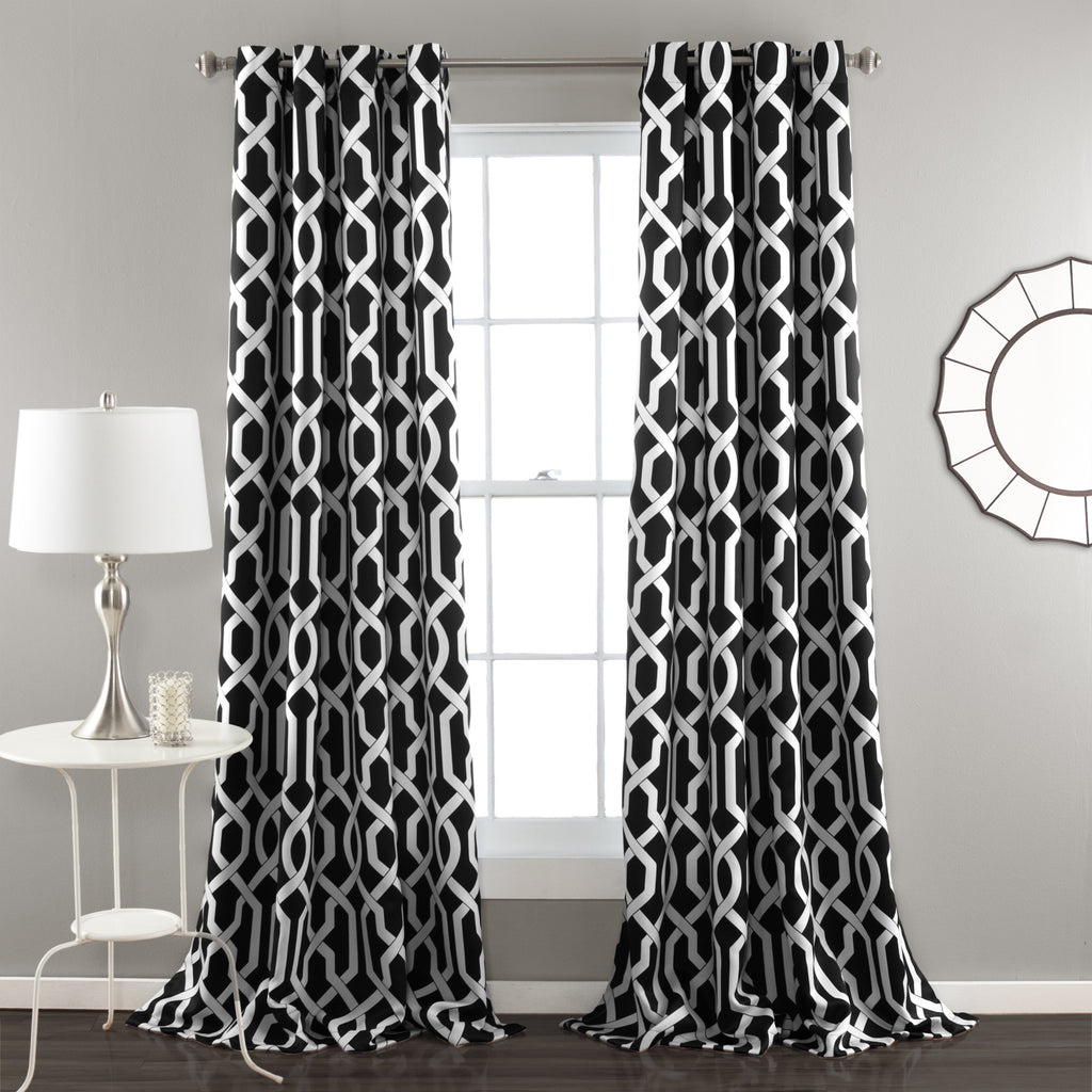 Black and white curtains - Edward Window Curtain Set