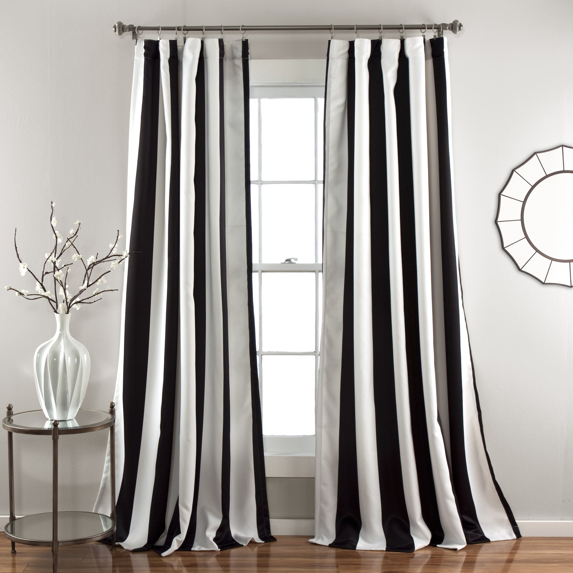 Wilbur Stripe Window Curtain Set