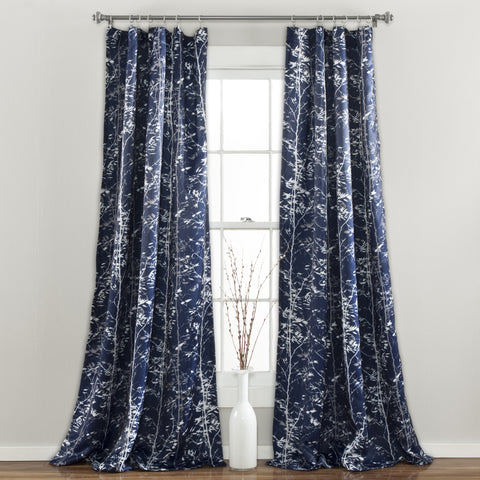 Forest Room Darkening Window Panel Navy Set