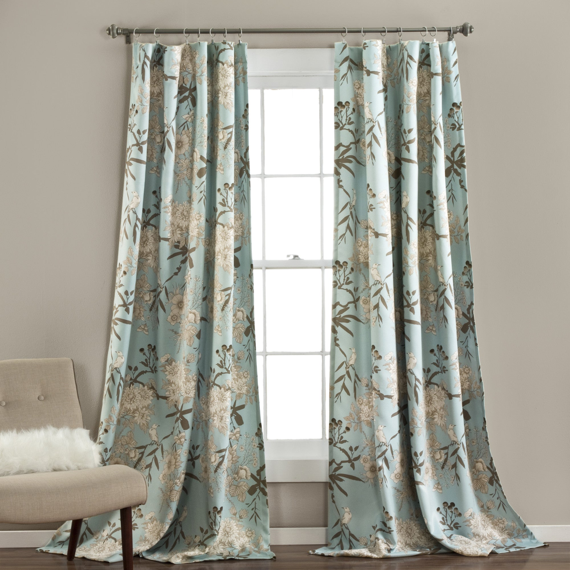 cm in teal or textilefamily curtain flower product garden polyester curtains white window lace width for girl beautiful big from