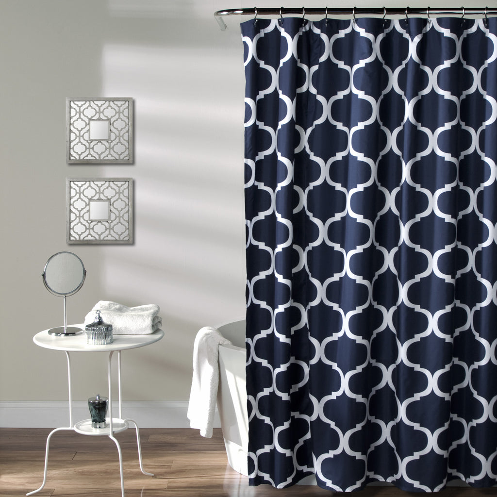 Black And Blue Shower Curtain Part - 38: Geo Shower Curtain