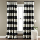 Stripe Blackout Window Curtain Set