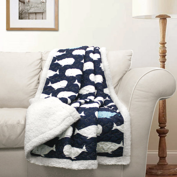 Whale Throw Sherpa Lush Decor Www Lushdecor Com