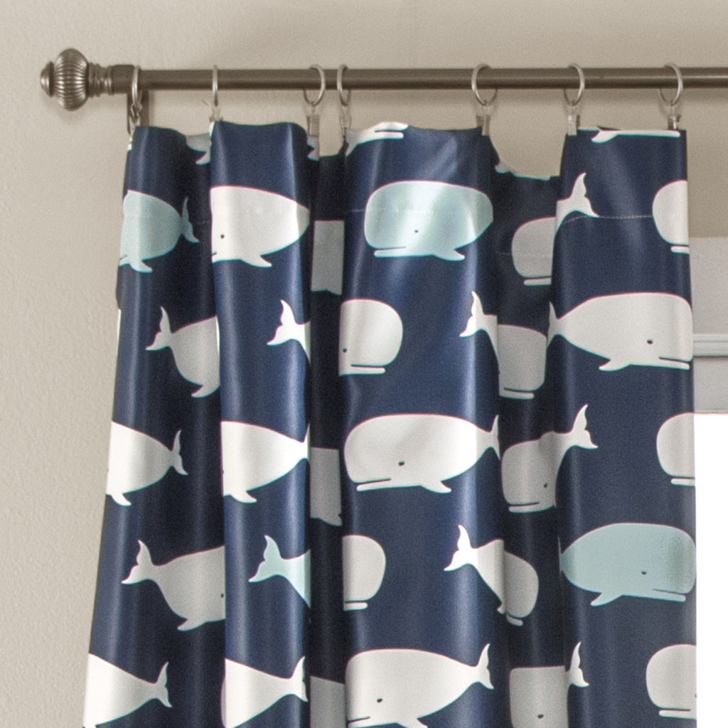 Whale Window Curtain Panel Set