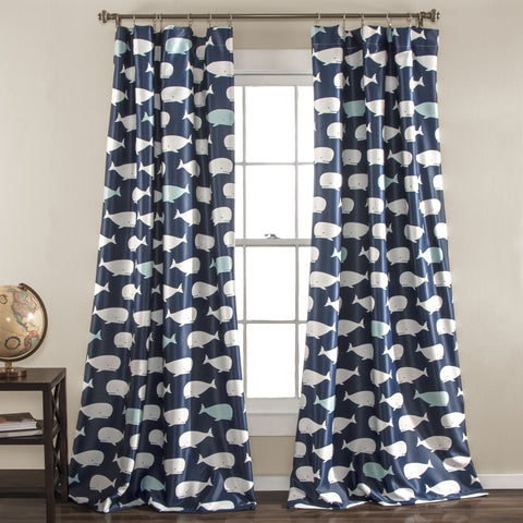 Whale Window Curtain (Pair)