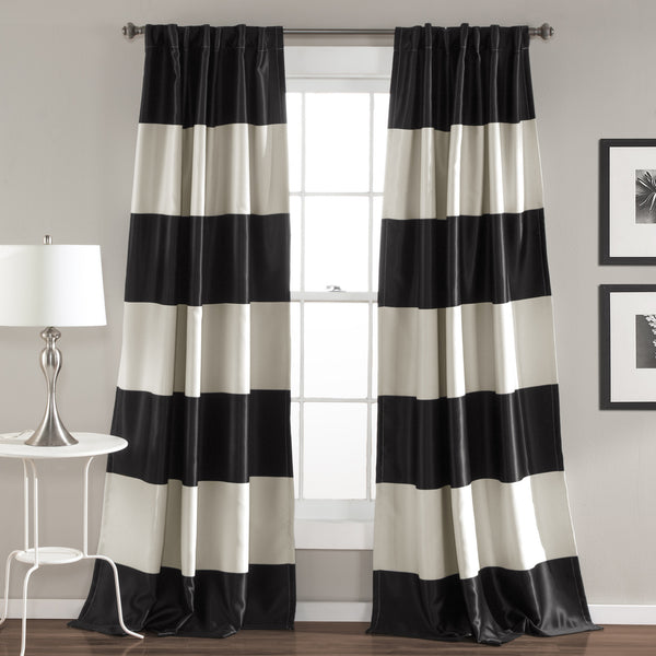 Montego Stripe Window Curtain (Pair)