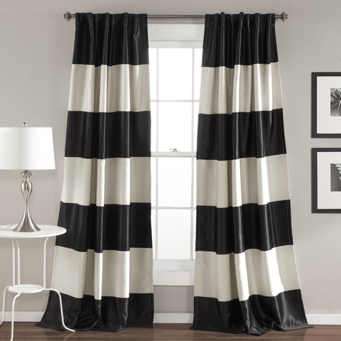 Montego Stripe Window Curtain Set