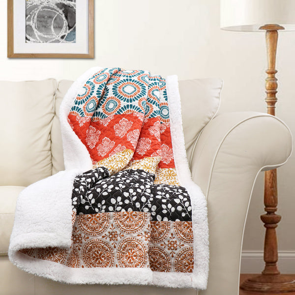 Bohemian Stripe Throw Sherpa