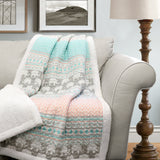Elephant Stripe Throw Sherpa
