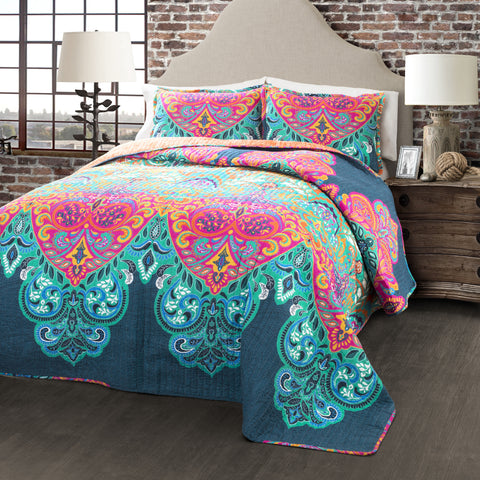 Boho Chic Quilt 3 Piece Set