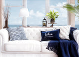 Relax You're Home Decorative Pillow Cover